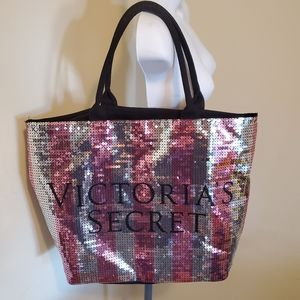 Sequin Victoria's Secret Large Tote Bag